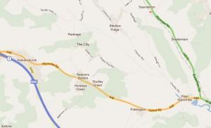 Map of Radnage Parish Boundary