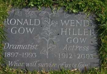 Dame Wendy Hillier - buried in St Mary's